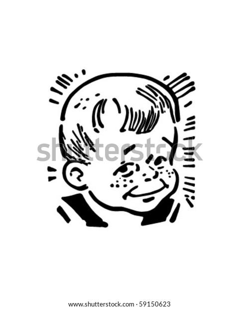 Retro Clip Art Boy