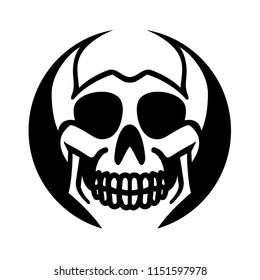 Grinning skull icon