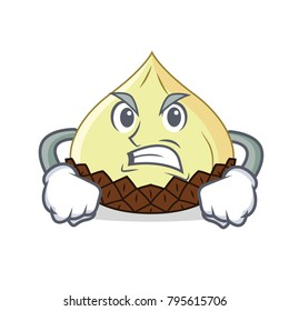 Grinning snake fruit mascot cartoon