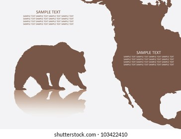 Grizzly bear background - vector illustration