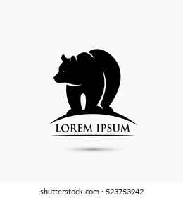 Grizzly bear sign - vector illustration