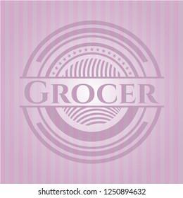 Grocer pink emblem