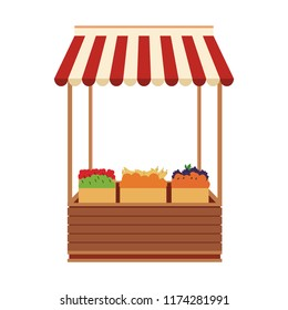 Groceries wooden stand