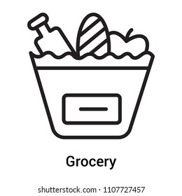 Grocery icon vector isolated on white background for your web and mobile app design, Grocery logo concept