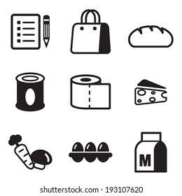 Grocery List Icons