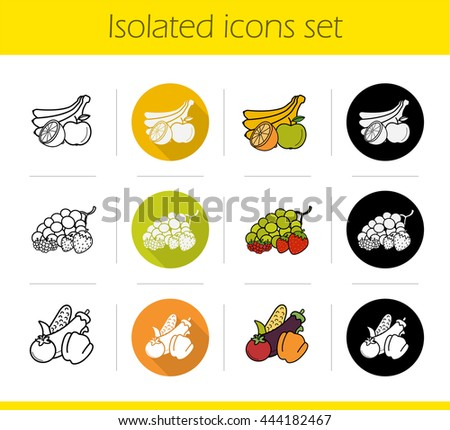 grocery store products categories icons set stock vector royalty