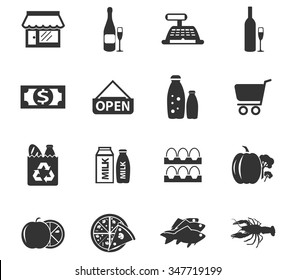Grocery store symbol for web icons