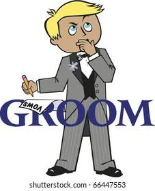 Groom Blonde Hair Blue Eyes
