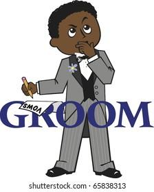 Groom Dark Skin Black Hair