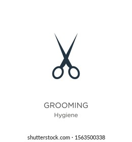 Grooming icon vector. Trendy flat grooming icon from hygiene collection isolated on white background. Vector illustration can be used for web and mobile graphic design, logo, eps10