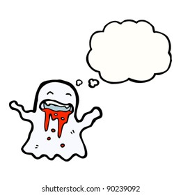 gross bloody ghost cartoon