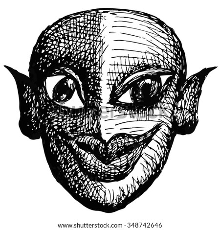 grotesque face freaky character stock vector royalty free
