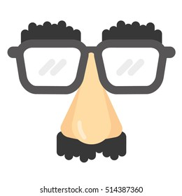 Groucho Marx Disguise Glasses as a Flat Vector Illustration