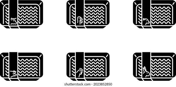 Ground meat icon , vector