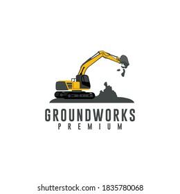 groundworks logo design vector for business