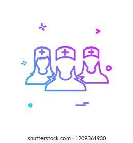 Group avatar icon design vector