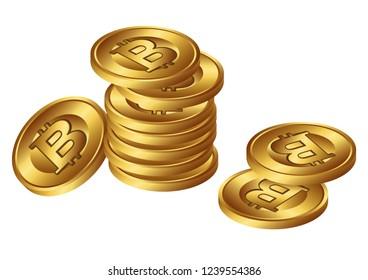 Group of bitcoin illustration