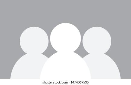 Group of blank avatars vector illustration