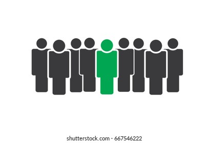 Group of business people with team leader