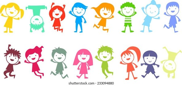 Group of color children