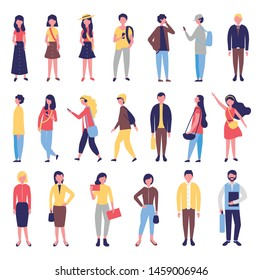 group of community people bundle characters vector illustration design