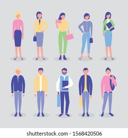 group of community people characters vector illustration design