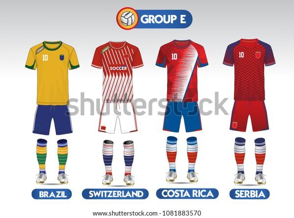 on sale 97016 6d15f Group E Football Soccer Kit Football Stock Vector (Royalty ...