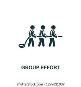 Group Effort icon. Premium style design from teamwork icon collection. UI and UX. Pixel perfect Group Effort icon for web design, apps, software, print usage.