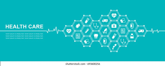 Group of elements flat icons in medicine, medical, health, cross, healthcare for background concepts vector illustration