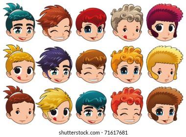 Curly Hair Boy Cartoon Images Stock Photos Vectors Shutterstock