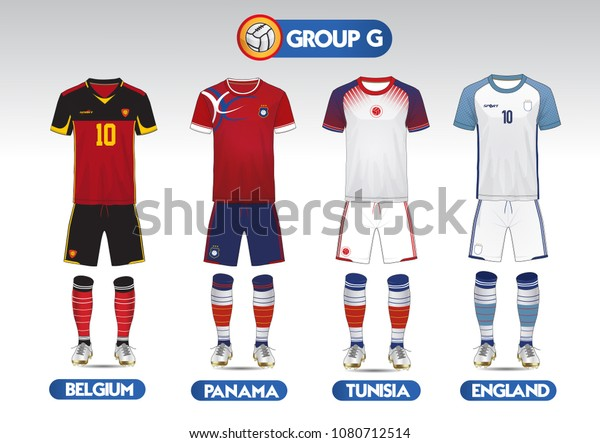 finest selection 437d1 1f8af Group G Football Soccer Kit Football Stock Vector (Royalty ...