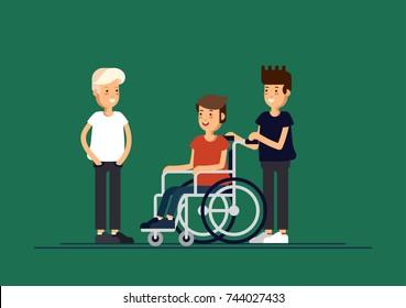 Wheelchair School Stock Vectors Images Vector Art