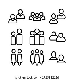 group icon or logo isolated sign symbol vector illustration - Collection of high quality black style vector icons