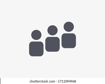 Group icon, team symbol, social, teamwork icon. People vector illustration