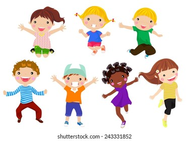 Kids Exercise Cartoons Images Stock Photos Vectors Shutterstock