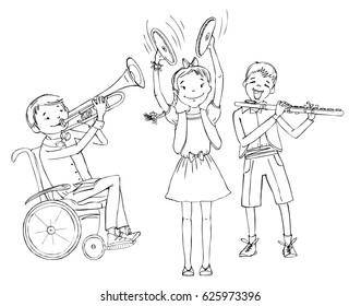 Kids Playing Wheelchair Images, Stock Photos & Vectors | Shutterstock