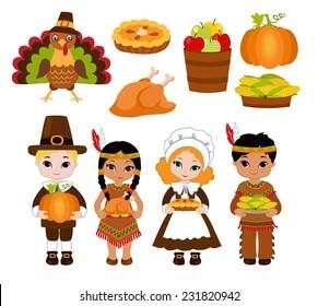 pilgrims and indians images stock photos vectors shutterstock rh shutterstock com thanksgiving indian clipart Feast Clip Art
