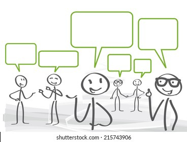 A group of lively discussion