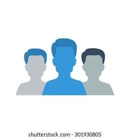 group of man  social media man icon