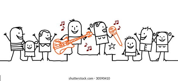 group and music