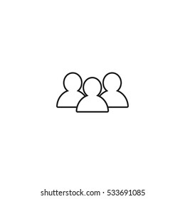 group outline icon vector, can be used for web and mobile design