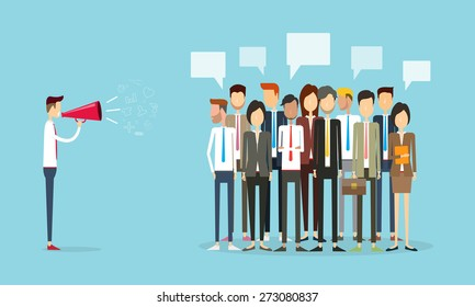 group people business and marketing communication background