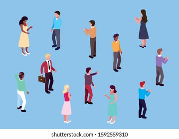 group of people business standing with different poses vector illustration design vector illustration design
