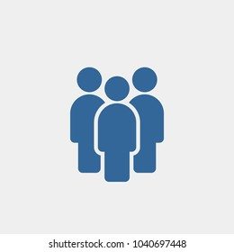Group of people flat vector icon
