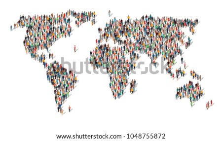 group of people in form of world map group of people making a earth planet