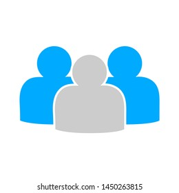 group of people icon. Logo element illustration. group of people design. colored collection. group of people concept. Can be used in web and mobile