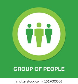 group of people icon, team symbol, communication icon