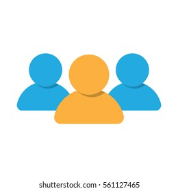 Group of people icon, teamwork or crowd, Vector illustration isolated on white background.