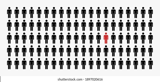 group of people illustration concept vector,different person man icon.