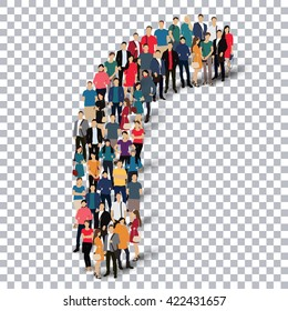 group  people  shape letter R vector Transparency